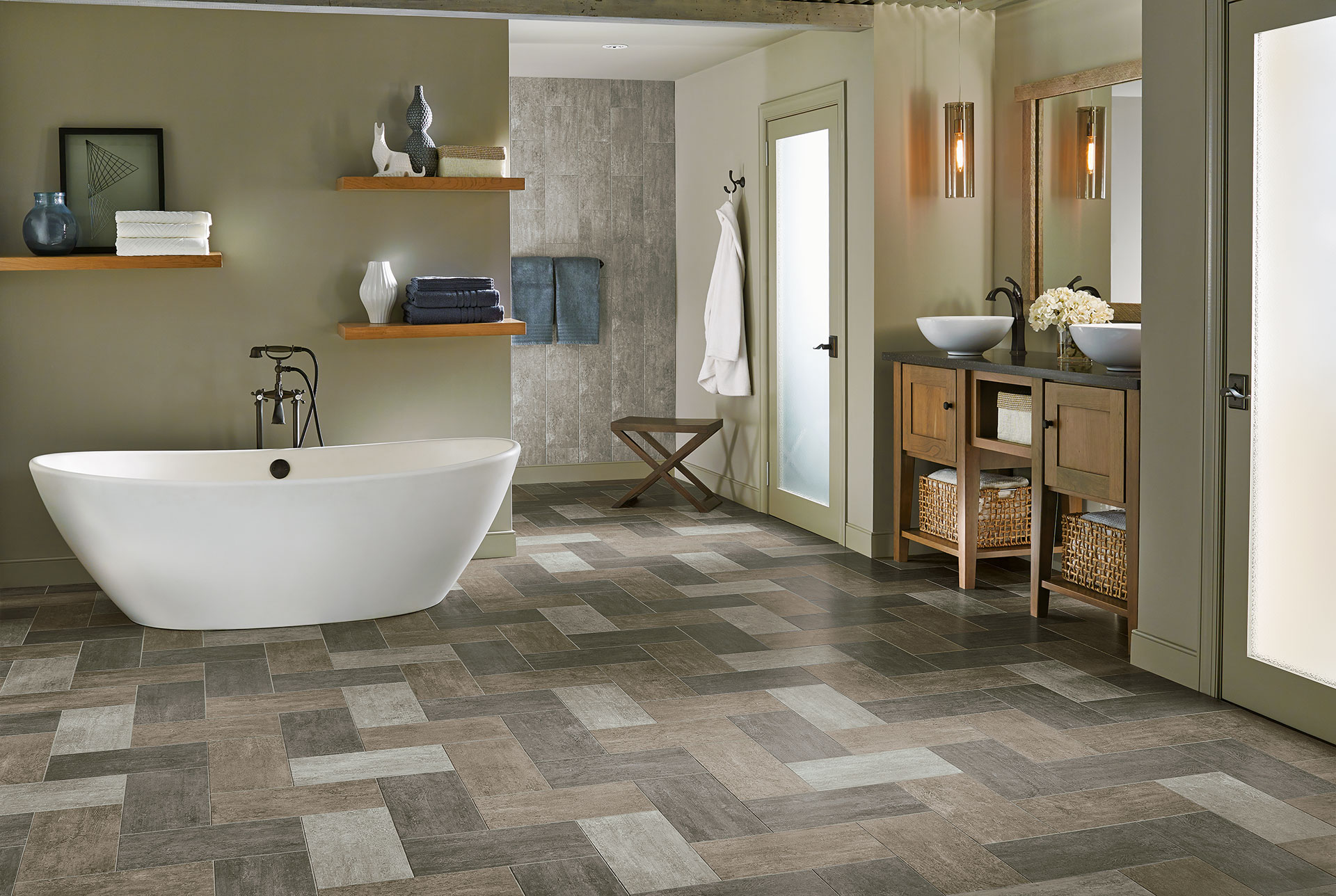 Bathroom floor vinyl tiles - Bathroom Floor Vinyl Tiles 41
